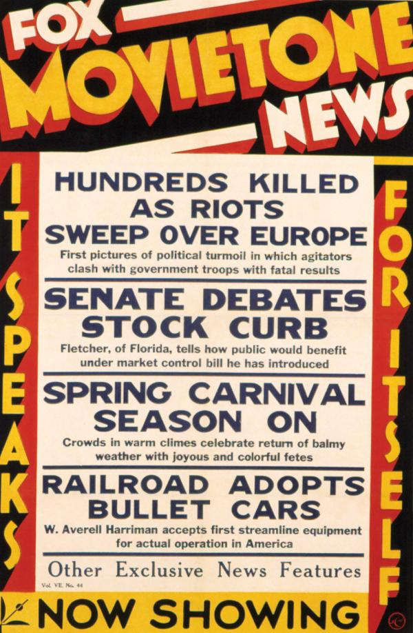 Newsreel advertisment