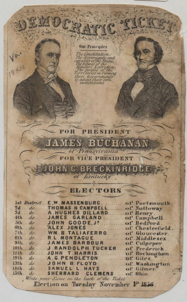 Poster for 1856 election