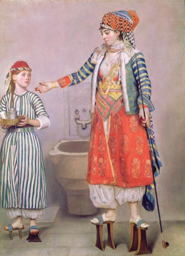 Turkish lady and servant