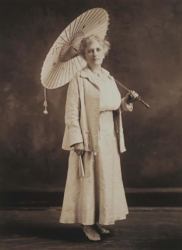 A full-length studio portrait of Gardener looking especially elegant and worldly