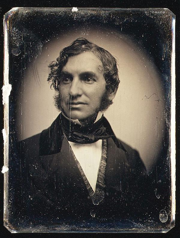 Portrait of Henry Wadsowrth Longfellow.