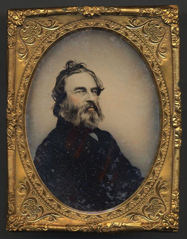 A portrait of Longfellow towards the end of his life, with beard.