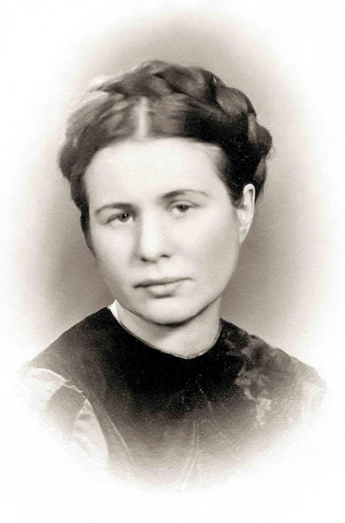 A sepia photo of a young Irena Sendler, in Warsaw, circa 1930.