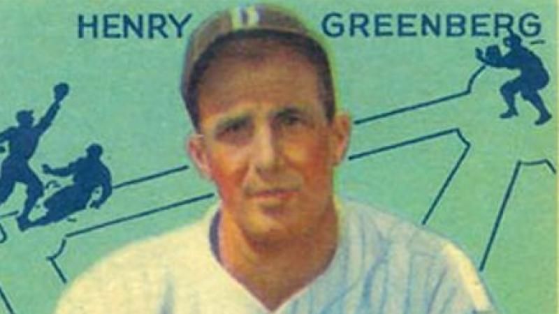 "Henry ""Hank"" Greenberg of the Detroit Tigers, 1934 baseball card"