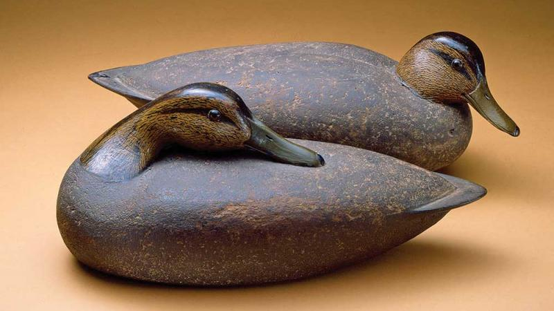 Antique duck decoys.