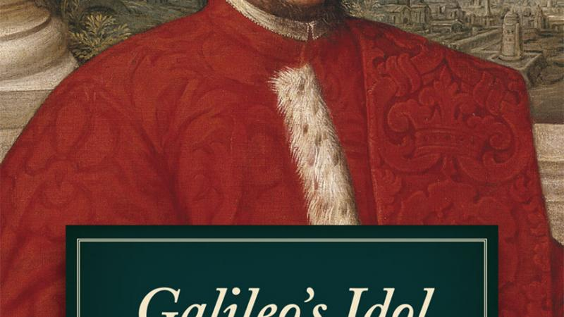 Book cover showing a man in a red frock.