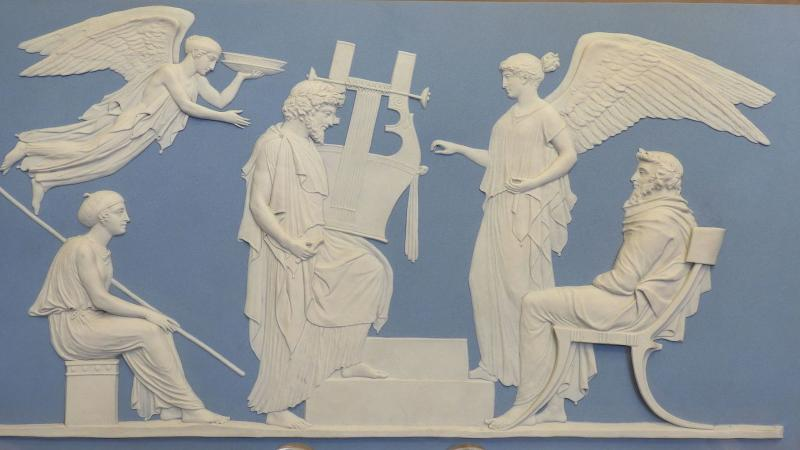 Die Apotheose Homers, Jasperware,Wedgwood design by John Flaxman, 1786.