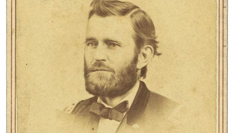 Portrait of Ulysses S. Grant, done in sepia