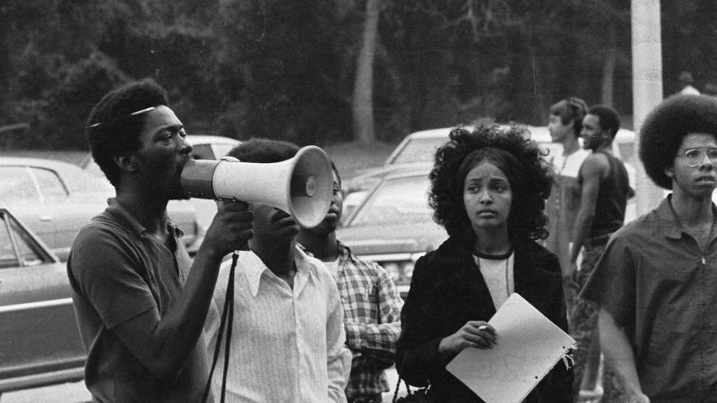 Students protest at Southern University in the 1970s