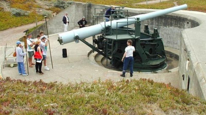 Six-inch Rifled Gun Number 9, Battery Chamberlin, on the grounds of the Presidio of San Francisco