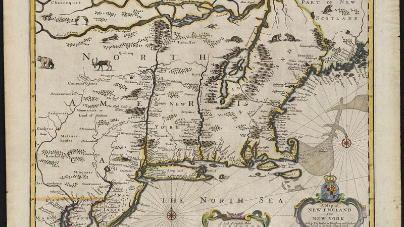 A map of New England and New York, 1676