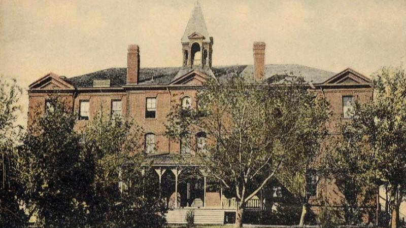 Bacone Indian University (now Bacone College), Muskogee, Oklahoma; from a 1910 postcard.