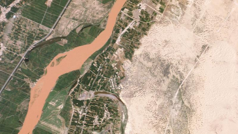 Satellite image of the Yellow River
