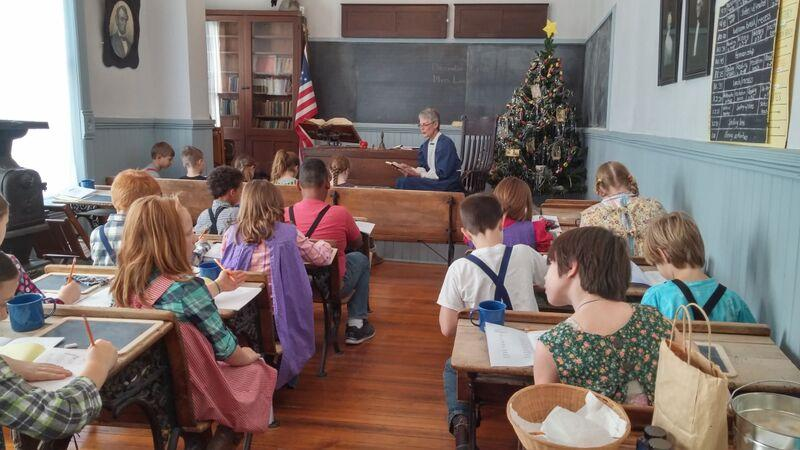 Every year all the fourth graders in Ottawa experience school in 1910 at their class's one-room school day.