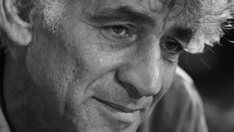 Leonard Bernstein - portrait of the American composer.