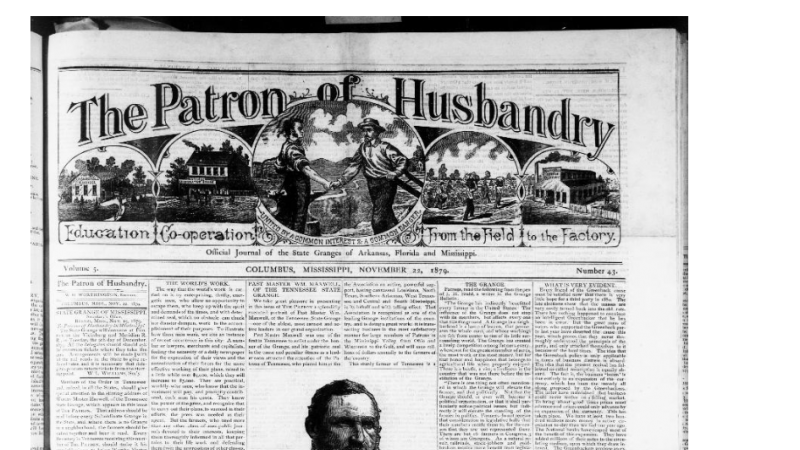Newspaper front page, Patron of Husbandry