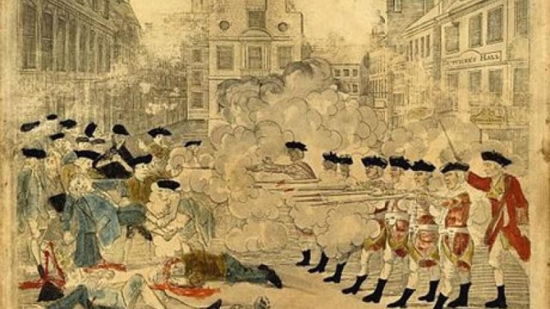 Depiction of the Boston Massacre, 1770 engraving
