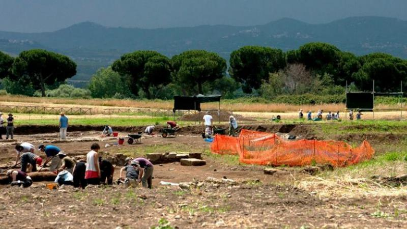 The Gabii Project excavation site.