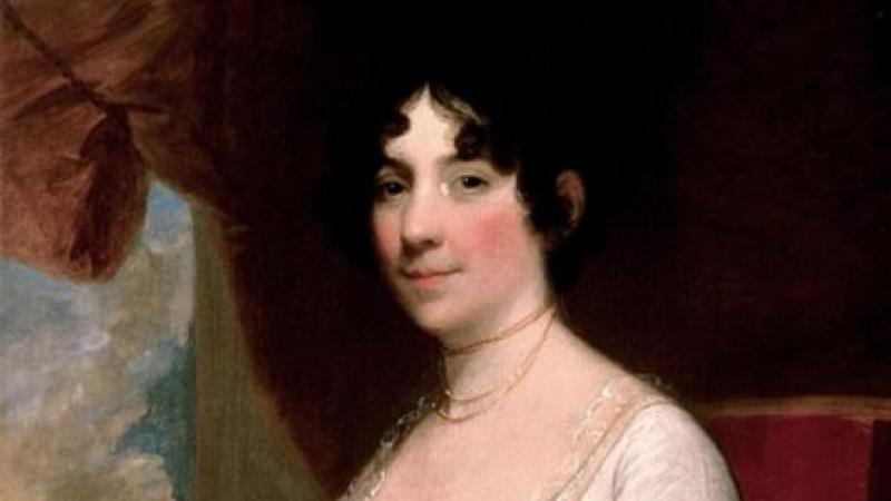 Painting of Dolley Madison, by Gilbert Stuart