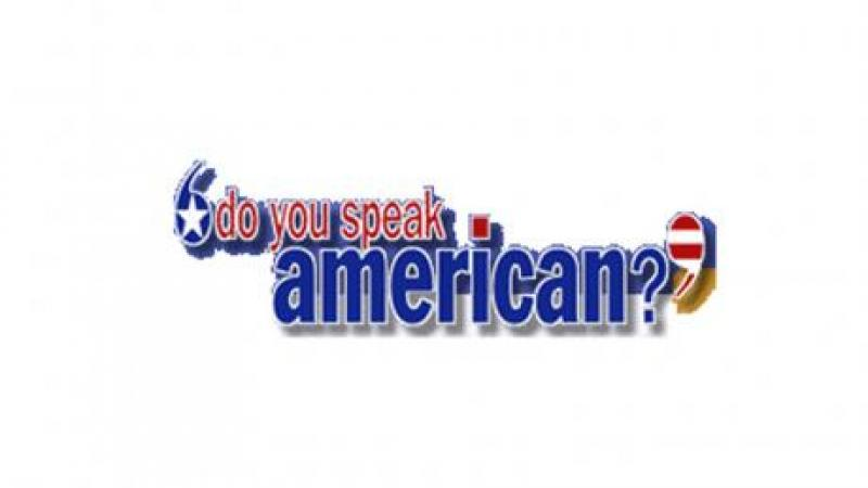 "The text ""Do You Speak American?"" in red white and blue bubble letters"