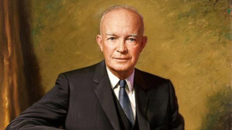 Official portrait of Dwight D. Eisenhower