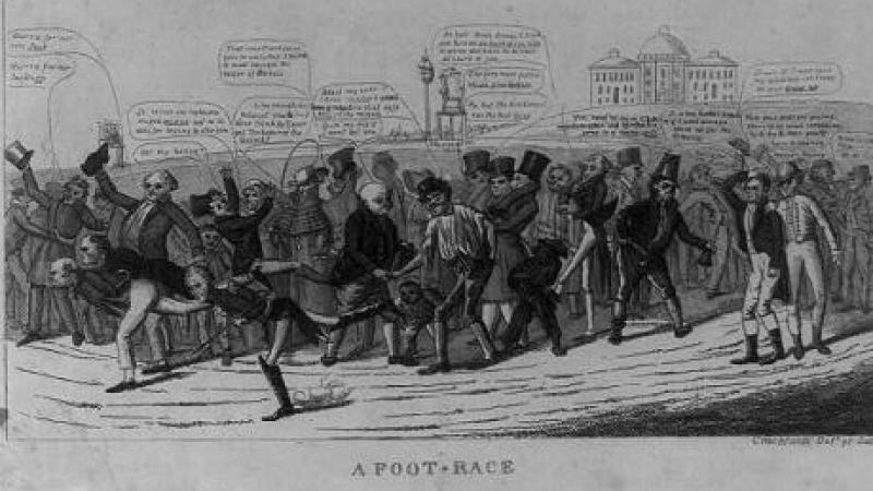 A foot-race: A figurative portrayal of the presidential race of 1824