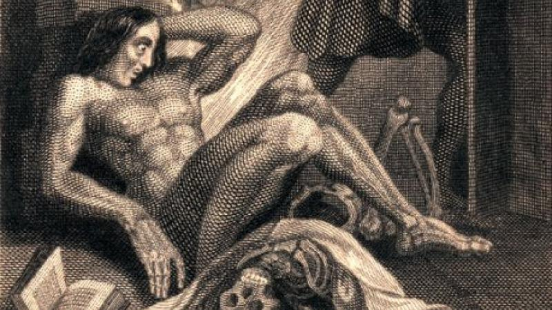 Frontispiece to Mary Shelley, Frankenstein published by Colburn and Bentley, Lo
