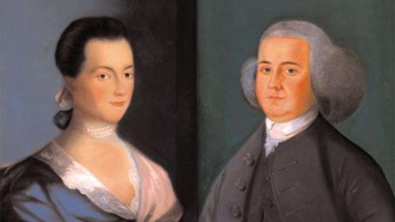 Portraits of Abigail and John Adams, from the Massachusetts Historical Society