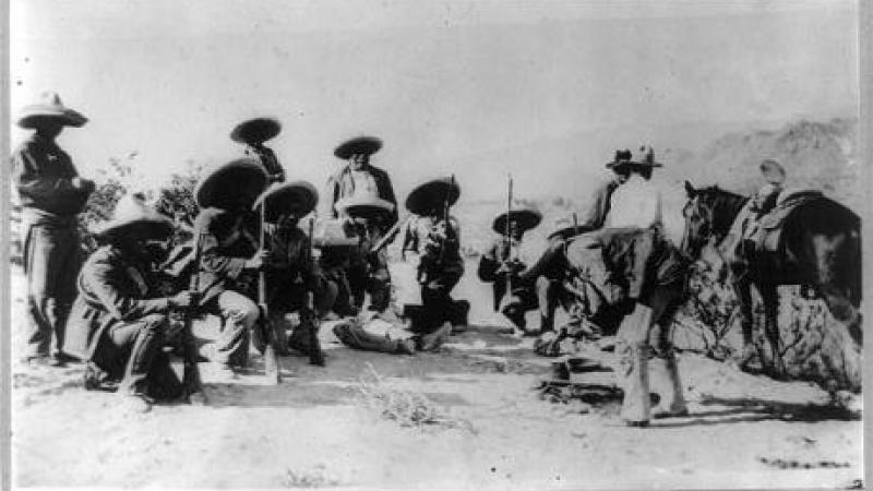 Lunch in insurrecto camp near Juarez--Mexican War