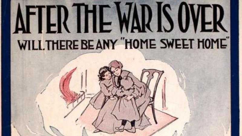 "cover for ""After the War Is Over"" sheet music from 1917"