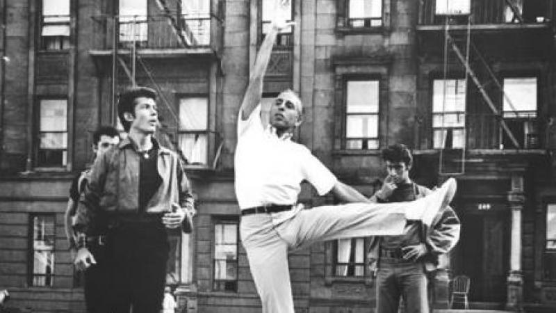 Photograph of Jerome Robbins during a rehearsal for West Side Story