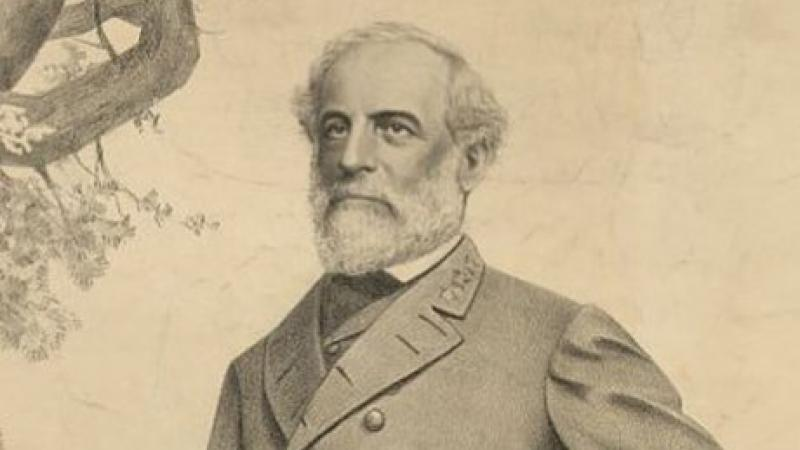 Robert E. Lee, full-length portrait, lithograph