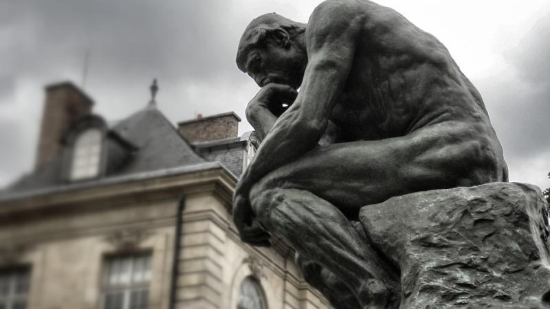 "Rodin's ""Thinker"" sculpture"
