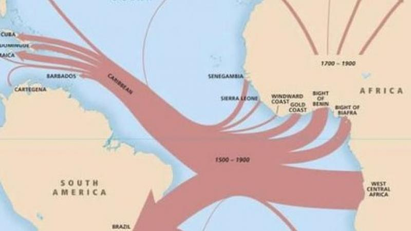 Map of the transatlantic slave trade