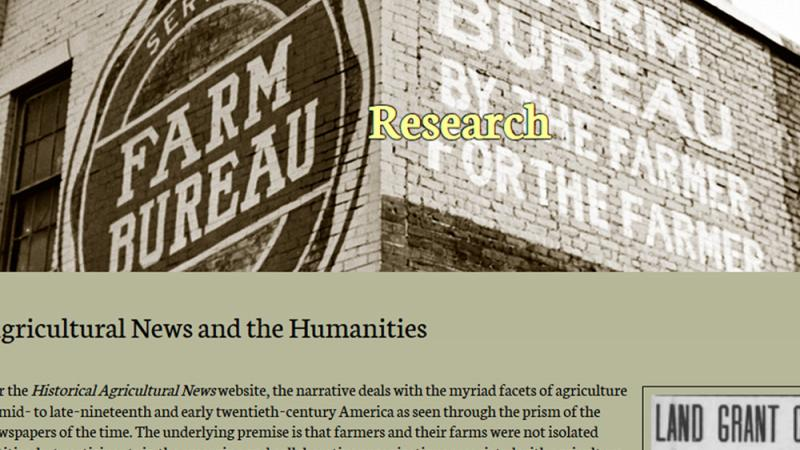 Historical Agricultural News research in the humanities