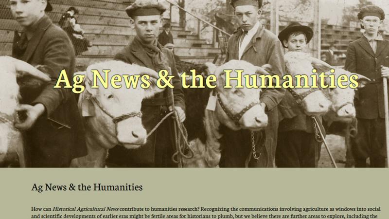 Historical Agricultural News website