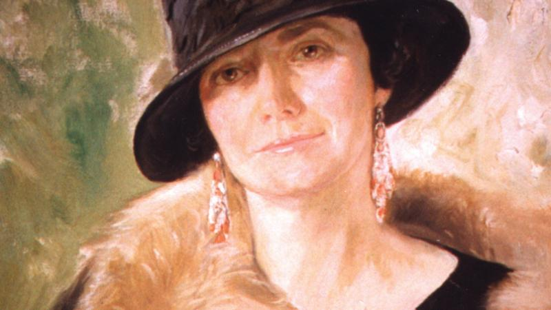 book cover featuring oil painting of a woman in black hat