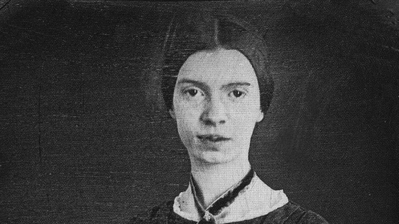 Black and white drawing of Emily Dickinson