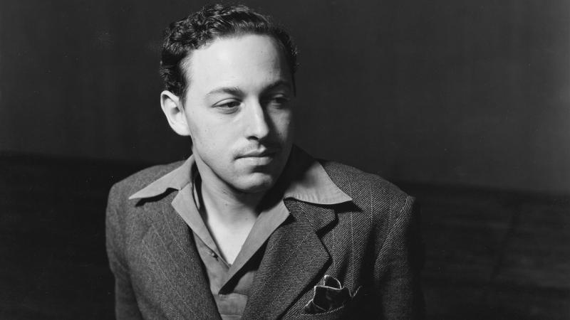 black and white photo of Tennessee Williams