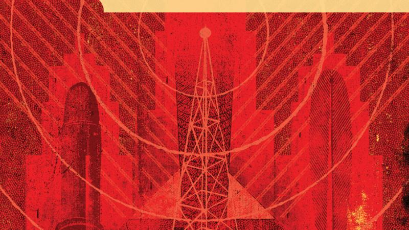 "Red book cover for the book, ""The Stridentist Movement in Mexico."""