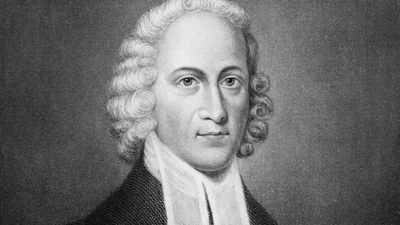 Black and white portrait of Jonathan Edwards.