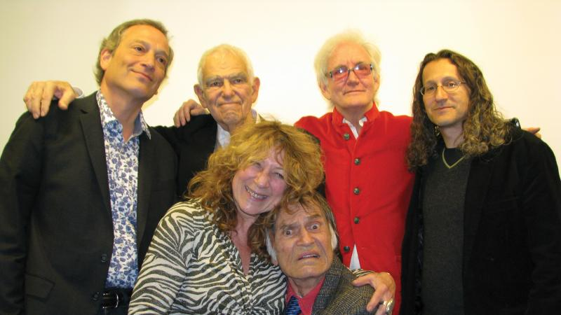 Drew Friedman, Bill Persky, Anelle Miller, Larry Storch, Tom Leopold, and Edward Portnoy.