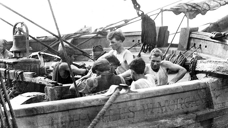 A crew of young men on the Morgan
