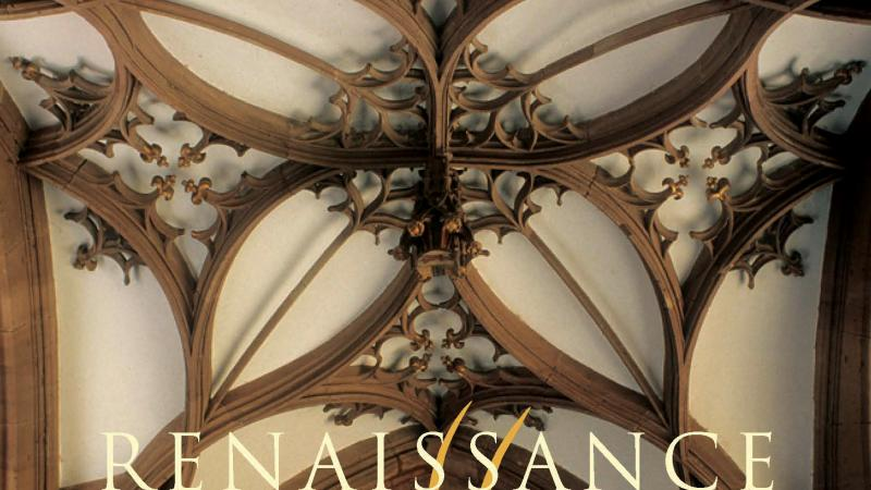 Color image of a book jacket showing a cloister vault and the author's name: Ethan Matt Kavaler.