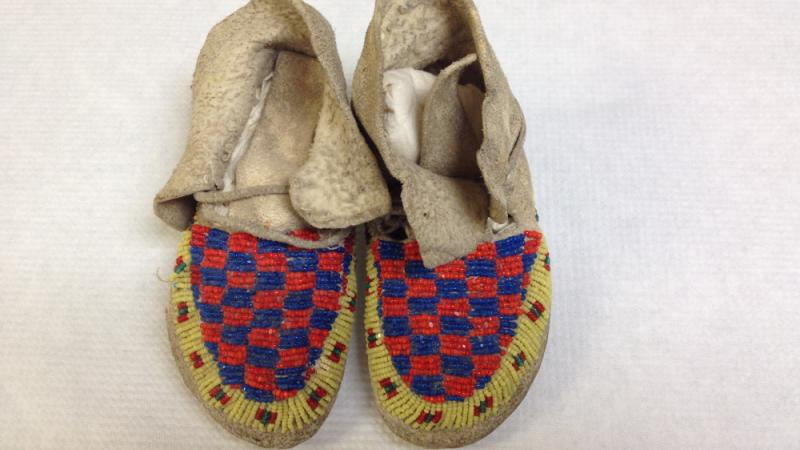 photograph of beaded moccasins