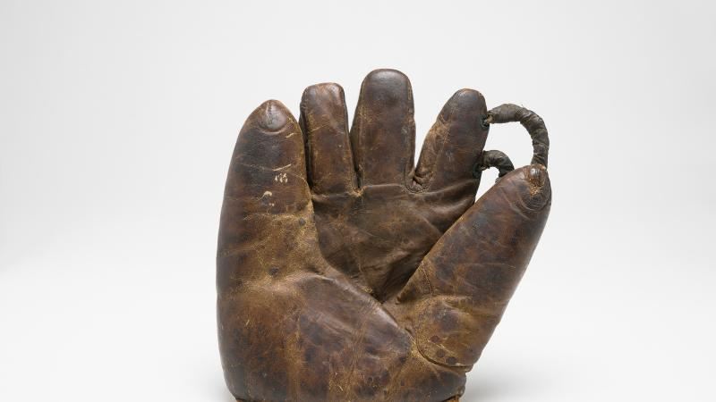 "Baseball glove belonging to ""Willie"" Mitchell."
