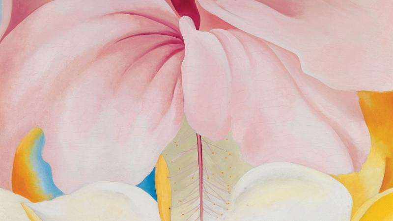 Hibiscus with Plumeria, 1939, by Georgia O'Keeffe