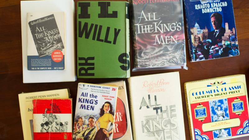 photograph of various editions of All the King's Men