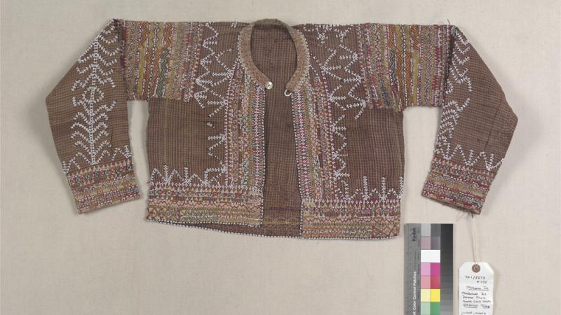 Jacket of abaca cloth and cotton from the Bagobo peoples in Mindanao