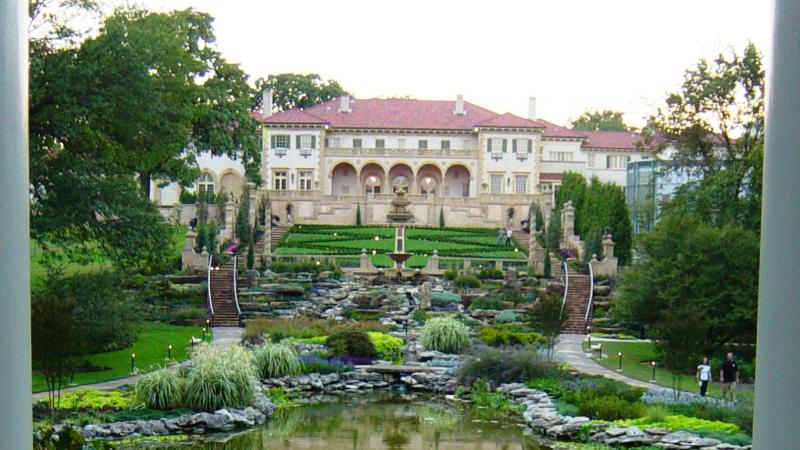 Photograph of the Philbrook Museum and gardens